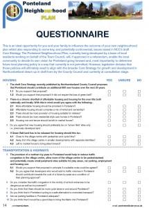 PNP questionaire